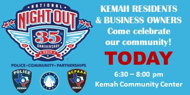 National Night Out - TODAY!